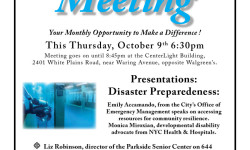"""THIS THURSDAY 10/9: BPECA Community Meeting from 6:30-8:45pm at 2401 White Plains Road, the """"CenterLight"""" building"""