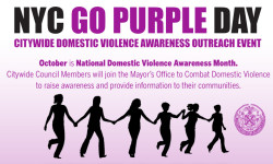 Please Join Council Member Andy King Advocate Against Domestic Violence on Go Purple Day