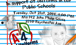 Please Join Council Member Andy King on Tuesday, Oct. 21, at 4 p.m. In Support of Mandatory School Uniforms