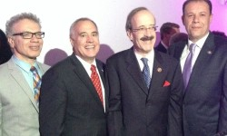 L-R Councilman Jimmy Vacca, Comptroller Tom DiNapoli, Congressman Eliot Engel, Assemblyman Mark Gjonaj