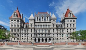 The NYS CAPITOL BUILDING, ALBANY,