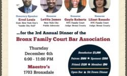 On behalf of the Bronx Family Court Bar Assoication