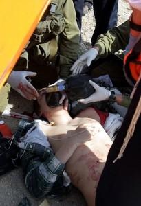 A fatally wounded Israeli school boy, 2011