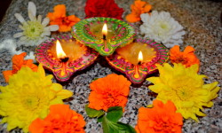 Celebrating The Hindu Festival Of Lights At Vishnu Mandir