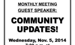 VAN NEST NEIGHBORHOOD ALLIANCE MONTHLY MEETING – WED. NOV. 5, 2014