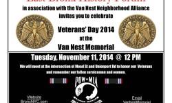 Veteran's Day 2014 at the Van Nest Memorial
