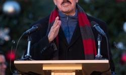 Congressman Serrano Participates in Christmas Tree and Menorah Lightning Ceremony at the Bronx Botanical Garden