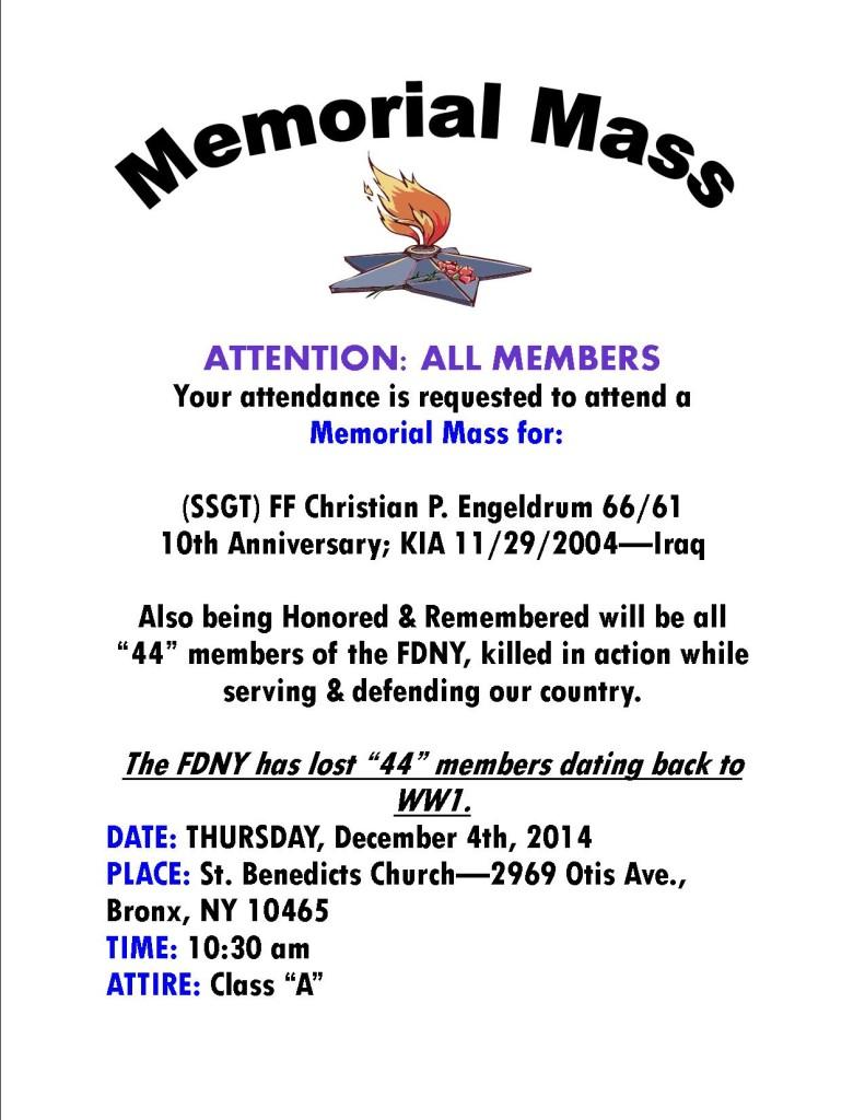 memorial mass
