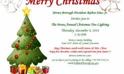 The Bronx Annual Christmas Tree Lighting