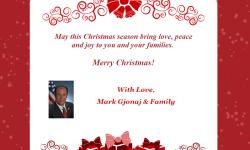 Merry Christmas from Assemblyman Mark Gjonaj