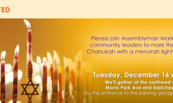 Mark The First Night of Chanukah with Assemblyman Mark Gjonaj