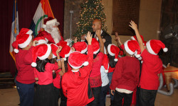 Christmas Tree Lighting event at the Bronx County Building