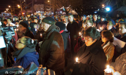 Candlelit Vigil Held in 45th Precinct for Fallen Detectives