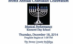 Bronx Annual Chanukah Celebration 12/18/14