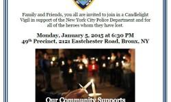 49th Precinct Community Candlelight Vigil 1/5/15