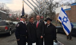SENATOR KLEIN & ASSEMBLYMAN GJONAJ HOST 20TH ANNUAL MENORAH LIGHTING