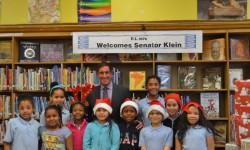 SENATOR KLEIN DONATES MORE THAN 2,000 TEXTBOOKS TO STUDENTS OF P.S. 107