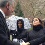 Mayor Bill de Blasio dropping by NYCLASS Press Conference on Phasing out of Horse Drawn Carriage legislation