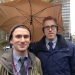Sebastian Maguire,Esq., Legislative Director and Counsel to Councilman Danny Dromm and David Karopkin, Intern for Councilman Dromm and Founder of Goosewatch NYC