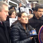 Allie Feldman, Executive Director, NYCLASS; Councilmembers Danny Dromm and Ydanis Rodriguez