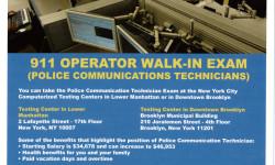 Job Opportunity – 911 Operator (Police Communication Technicians)