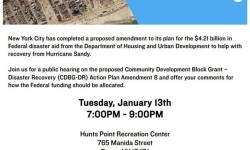 Sandy Recovery Action Plan Public Hearing