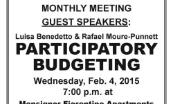 VNNA Monthly Meeting – NEW LOCATION – Wed. Feb. 4, 2015, 7:00 pm at MONSIGNOR FIORENTINO APARTMENTS