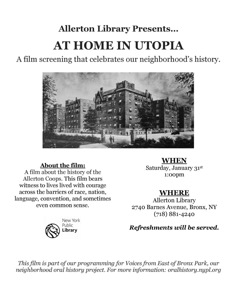 "Documentary screening of ""The Coops"" at Allerton – 1/31/15"