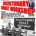 Feb 9th 2015 Discretionary Budget Workshop