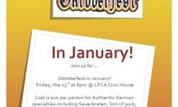 Oktoberfest in January at the LPCA