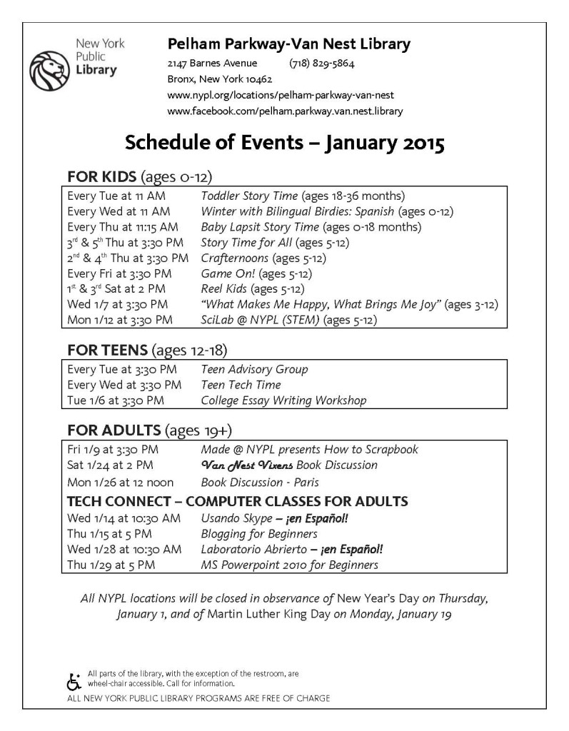PP-VN Library Events-Jan 2015