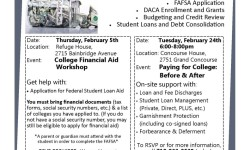 College Financial Aid and Dealing with College & Trade School Debt Workshop
