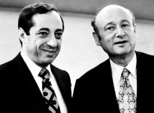 Governor Mario Cuomo with Mayor Ed Koch: often adversaries.