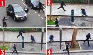 Infidels murdering a Moslem police officer