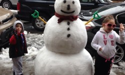 Check Out this Giant Snowman on Holland Avenue!