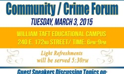 NYPD Community/Crime Forum 3/3/15