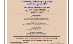 Serrano 2015 Black History Month Celebration – Tuesday- February 24, 2015 10am @ The Bronx Museum of the Arts
