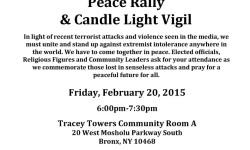 Interfaith Community Peace Rally & Candlelight Vigil