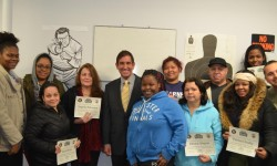 First Graduates of H.I.R.E. Security Guard Training Course Honored by Senator Klein