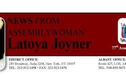 ASSEMBLYWOMAN LATOYA JOYNER INTRODUCES NEW LEGISLATION TO END TENANT DISCRIMINATION