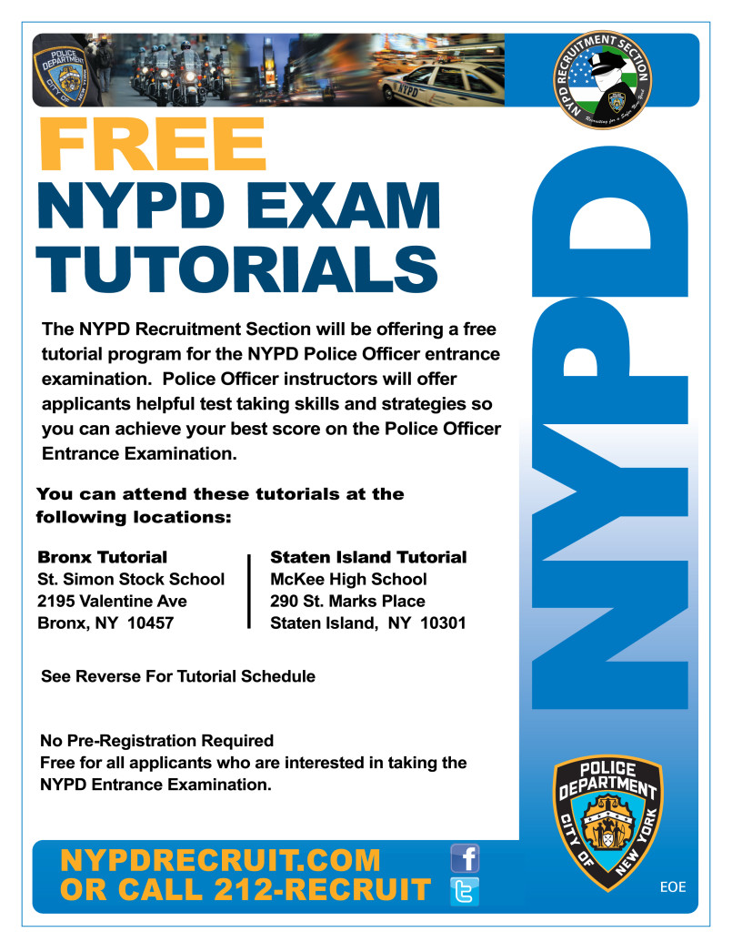 NYPD Tutorial front