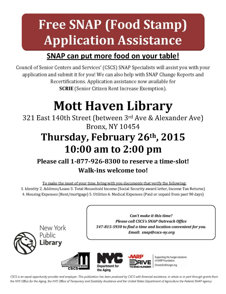 Food Stamp Benefits Application Nyc