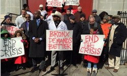 SENATOR DIAZ SR., LEADING BRONX ELECTED OFFICIALS, AND CLERGY STAND WITH PARENTS TO URGE ALBANY TO END FAILING SCHOOLS CRISIS
