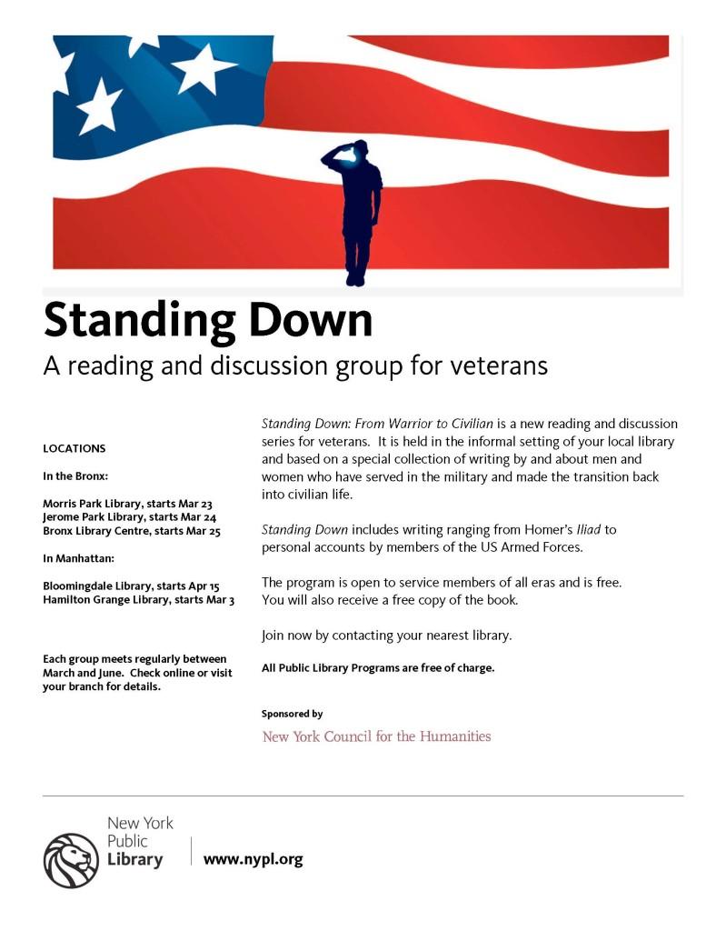 standing Down flier