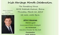 Irish Heritage Month Celebration