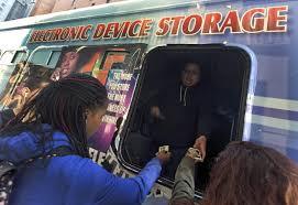 Cellphone storage vans
