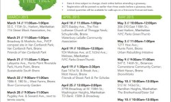 Manhattan/Bronx Free Tree Giveaways Schedule