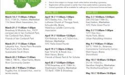 Manhattan/Bronx Free Tree Giveaways Schedule
