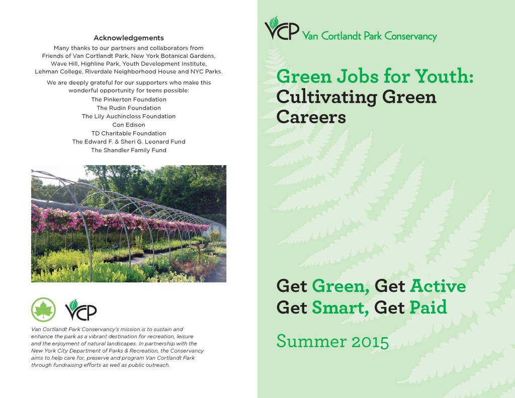 the bronx chroniclesummer job opportunity for hs teens van green jobs for youth 2015 web page 1
