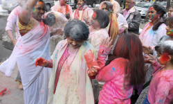 Celebrating Holi in the Bronx with Vishnu Mandir Temple